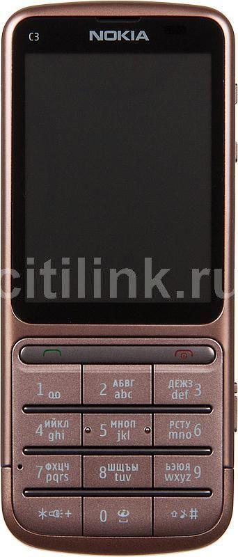 Мобильный телефон NOKIA C3-01.5  медный/коричневый