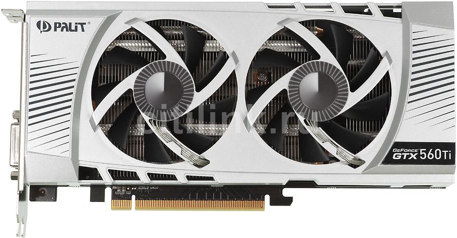 Видеокарта PALIT GeForce GTX 560Ti 448 cores,  1.3Гб, GDDR5, Ret [ne5x564010da-110xf]