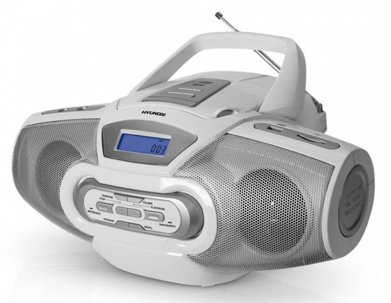 Аудиомагнитола HYUNDAI H-1430,  белый