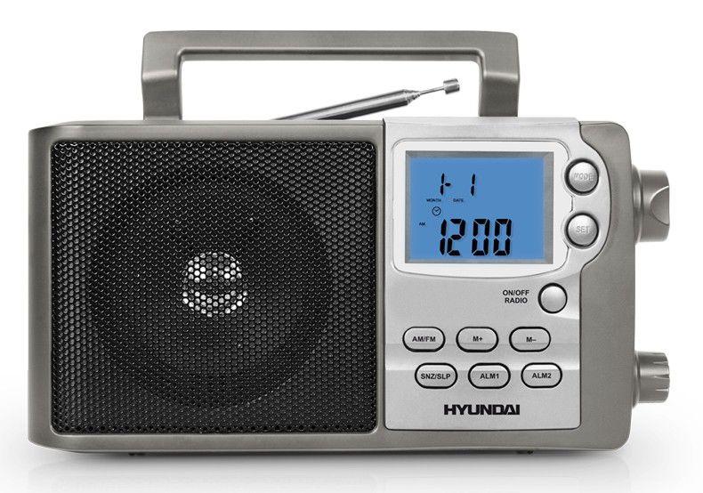 Радиоприемник HYUNDAI H-1629,  серебристый