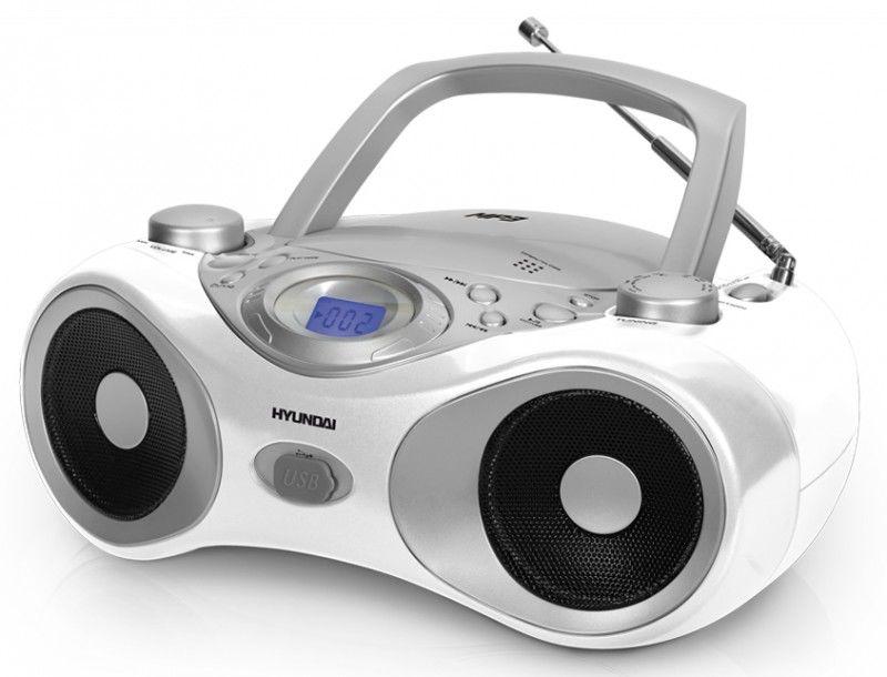 Аудиомагнитола HYUNDAI H-1403,  белый
