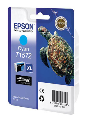 Картридж EPSON T1572 голубой [c13t15724010]