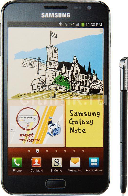 Смартфон SAMSUNG Galaxy Note GT-N7000 (чехол EFC-1E1FB)  темно-синий