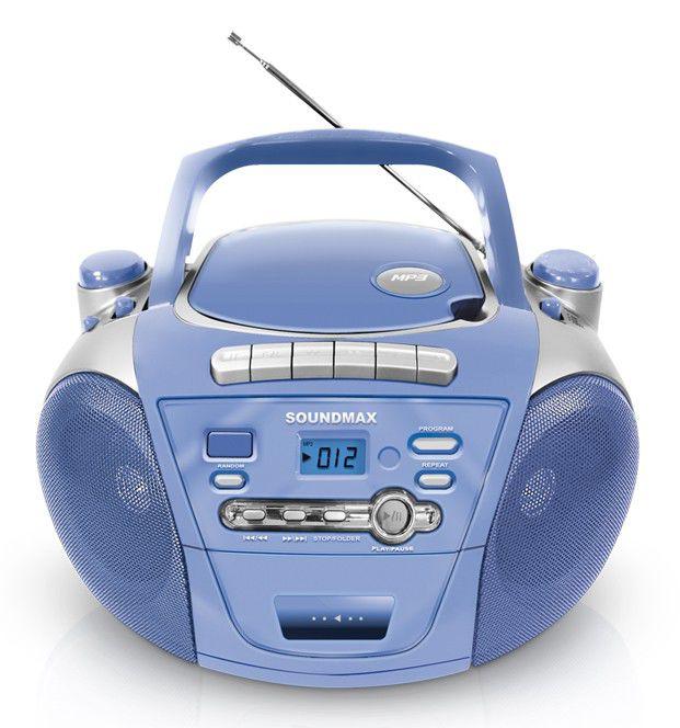 Аудиомагнитола SOUNDMAX SM-2403,  синий