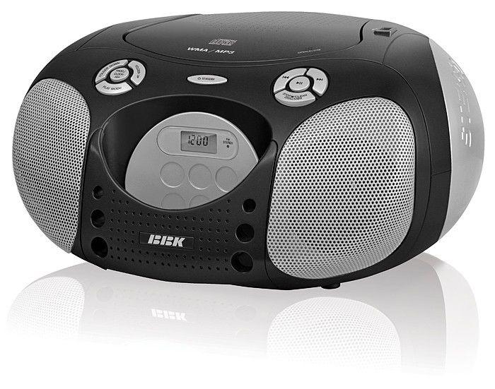 Аудиомагнитола BBK BX110U,  черный и серебристый
