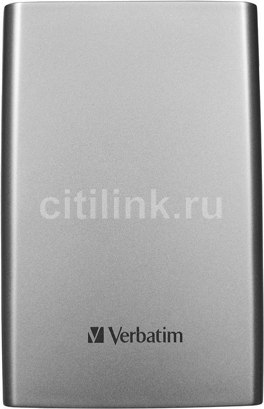 Внешний жесткий диск VERBATIM Store n Go 53022, 750Гб, серебристый
