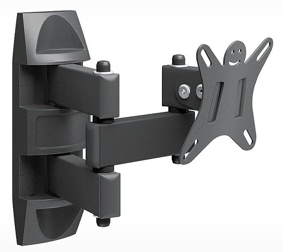 "Кронштейн для телевизора Holder LCDS-5039 металлик 10""-26"" макс.25кг настенный поворот и наклон"
