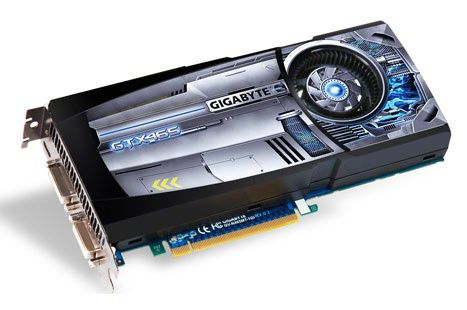Видеокарта GIGABYTE GeForce GTX 465,  1Гб, GDDR5, Ret [gv-n465mt-1gi]