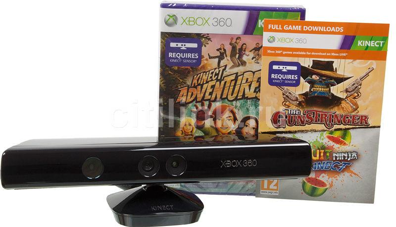 Сенсор MICROSOFT Kinect, для  Xbox 360, черный [lpf-00075]