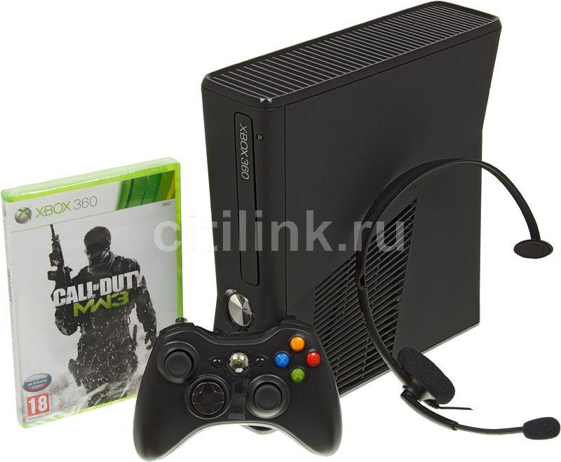 Игровая консоль MICROSOFT Xbox 360 S2G-00027, черный