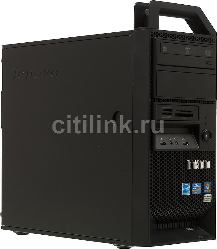 Рабочая станция  LENOVO ThinkStation E30,  Intel  Xeon  E3-1220,  DDR3 4Гб, 500Гб,  DVD-RW,  Windows 7 Professional,  черный [szd46ru]