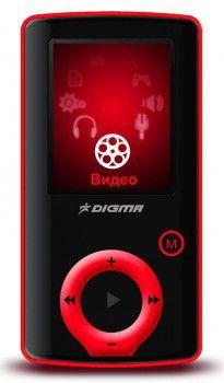 MP3 плеер DIGMA F2 flash 4Гб черный