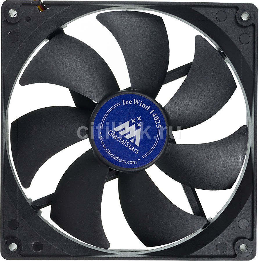 Вентилятор GLACIALTECH IceWind GS14025,  140мм, Bulk