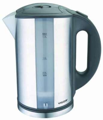 Чайник электрический VIGOR HX-2071, 2200Вт, серебристый и черный