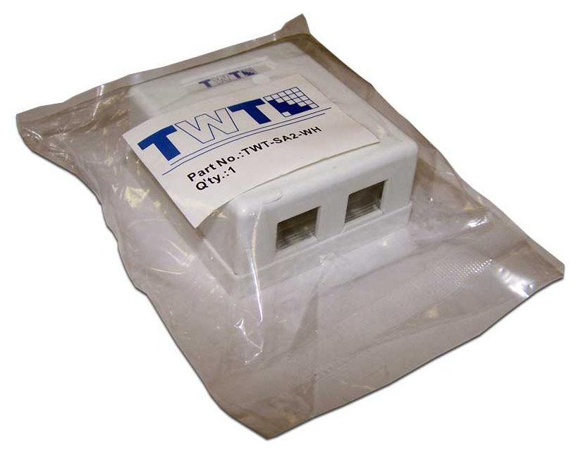 Коробка Lanmaster (TWT-SA2-WH) настенная белый