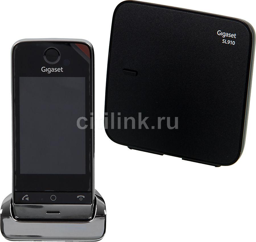 Радиотелефон GIGASET SL910,  черный и серебристый