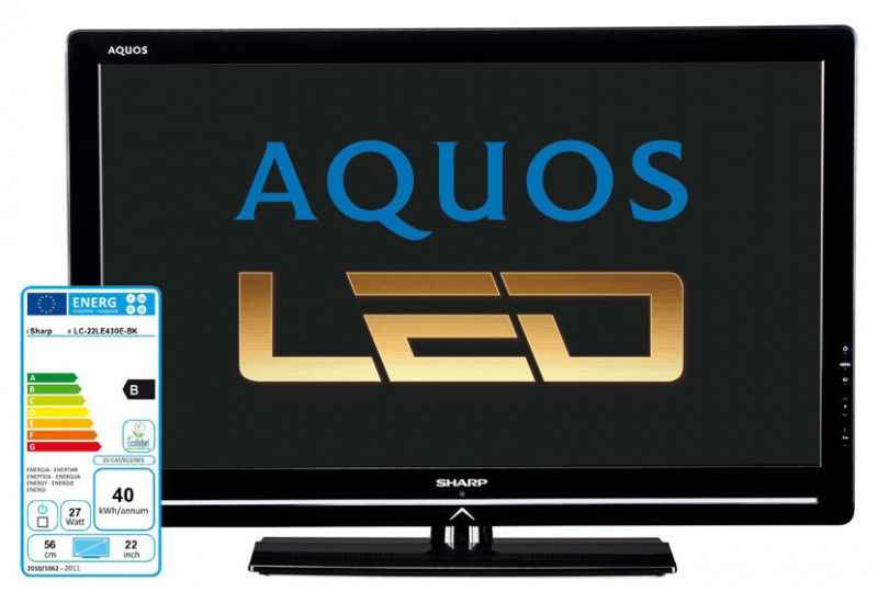 "LED телевизор SHARP Aquos LC22LE430  ""R"", 22"", FULL HD (1080p),  черный"