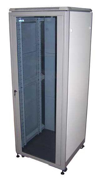 Шкаф коммутационный Lanmaster Eco (TWT-CBE-21U-6X8) 21U 600x800мм пер.дв.стекл задн.дв.стал.лист 2 б