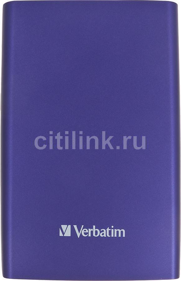 Внешний жесткий диск VERBATIM Store n Go 500Гб, фиолетовый [53033]