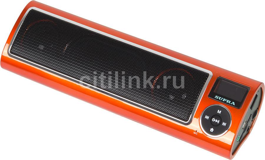 Аудиомагнитола SUPRA PAS-6255,  оранжевый