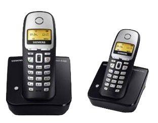 Радиотелефон SIEMENS A160 Duo,  черный