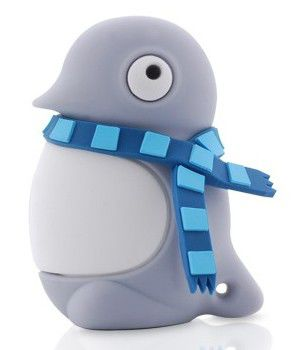 Флешка USB BONE Penguin 4Гб, USB2.0, серый [dr07021-4gr]