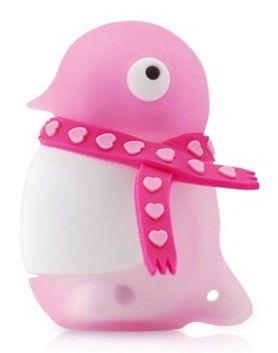 Флешка USB BONE Penguin 4Гб, USB2.0, розовый [dr07051-4p]