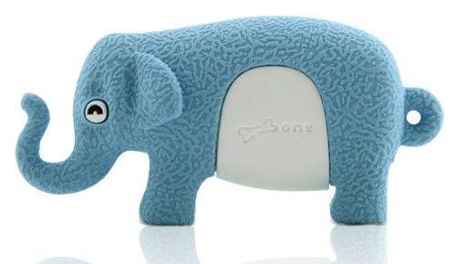 Флешка USB BONE Elephant 4Гб, USB2.0, голубой [dr09011-4b]