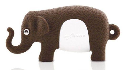 Флешка USB BONE Elephant 4Гб, USB2.0, коричневый [dr09011-4br]