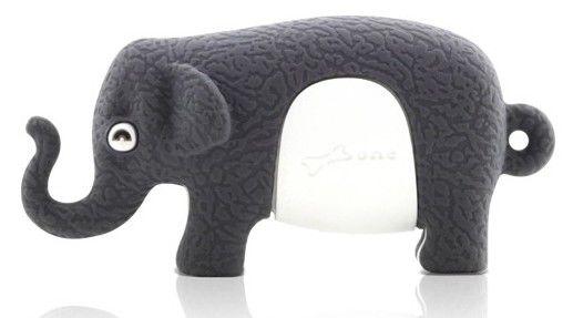 Флешка USB BONE Elephant 4Гб, USB2.0, серый [dr09011-4dg]