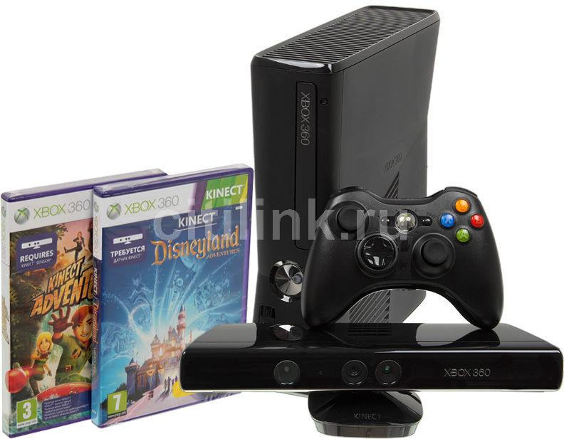 Игровая консоль MICROSOFT Xbox 360 S4G-00062, черный