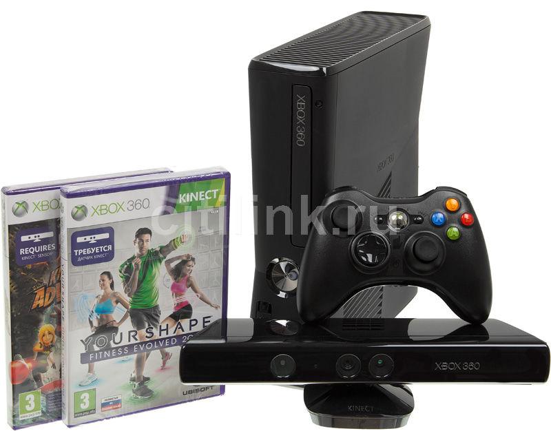 Игровая консоль MICROSOFT Xbox 360 S9G-00032, черный