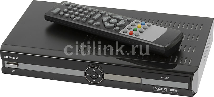 Ресивер DVB-T SUPRA SDT-110,  черный
