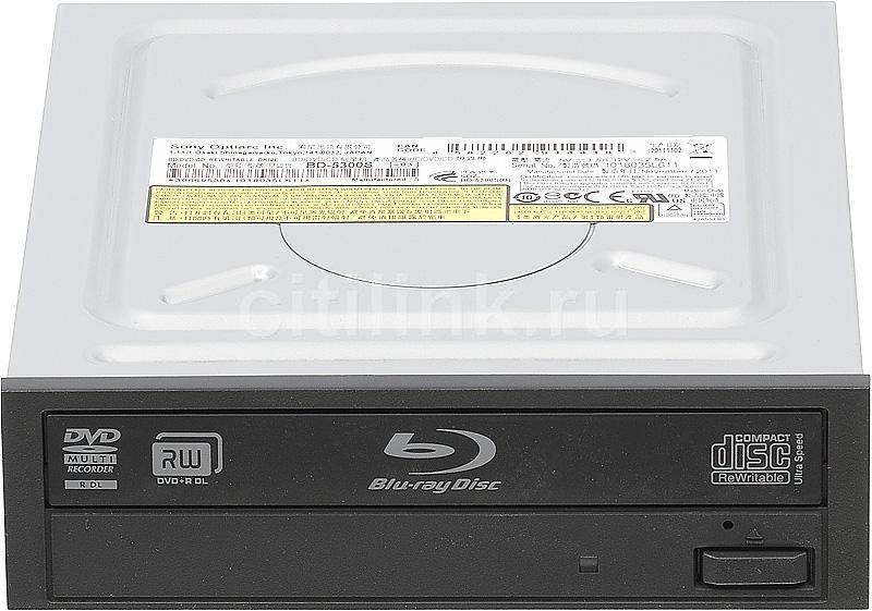 Оптический привод Blu-Ray RE SONY BD-5300S-03, внутренний, SATA, черный,  OEM