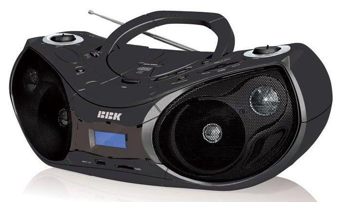Аудиомагнитола BBK BX514U,  черный