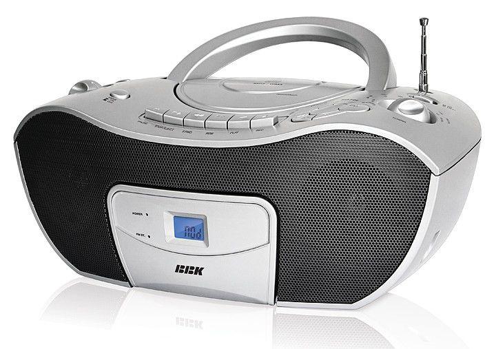 Аудиомагнитола BBK BX310UC,  серебристый и серый