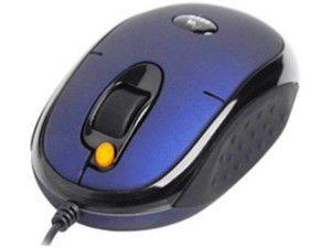 Мышь A4 X5-20MD-1 оптическая проводная USB, PS/2, синий