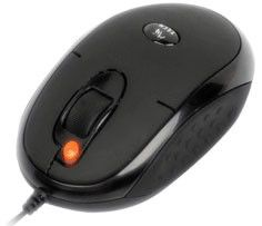 Мышь A4 X6-20MD лазерная проводная USB, PS/2, черный [x6-20md up (black)]