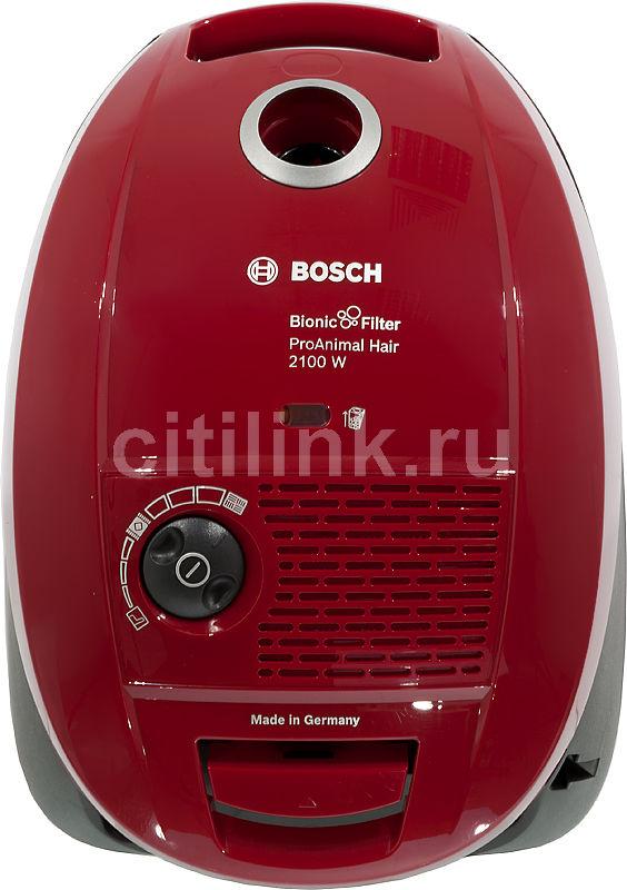 Пылесос BOSCH BSGL32125, 2100Вт, красный