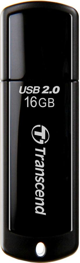 Флешка USB TRANSCEND Jetflash 350 16Гб, USB2.0, черный [ts16gjf350]