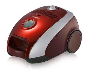 Пылесос SAMSUNG SC-6140, 1800Вт, красный/серебристый