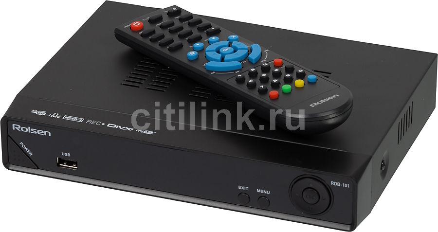 Ресивер DVB-T ROLSEN RDB-101,  черный [1-rldb-rdb-101]