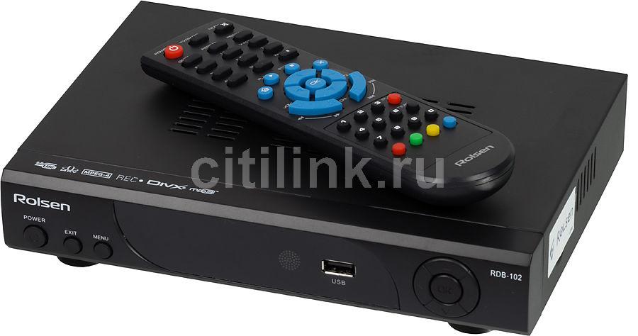 Ресивер DVB-T ROLSEN RDB-102,  черный [0-rldb-rdb-102]