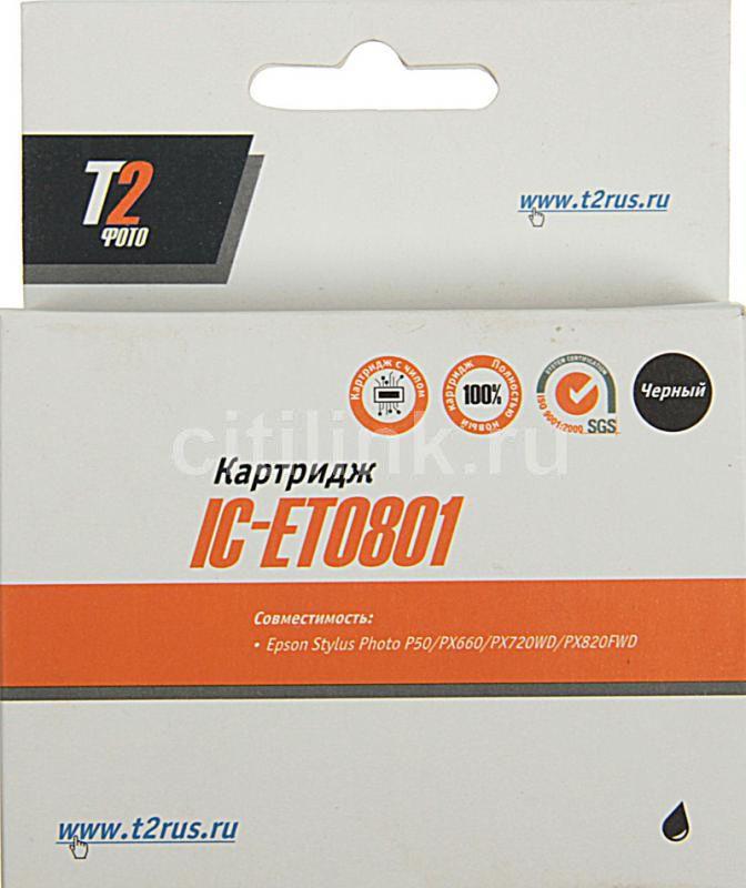 Картридж T2 T08014010 IC-ET0801,  черный