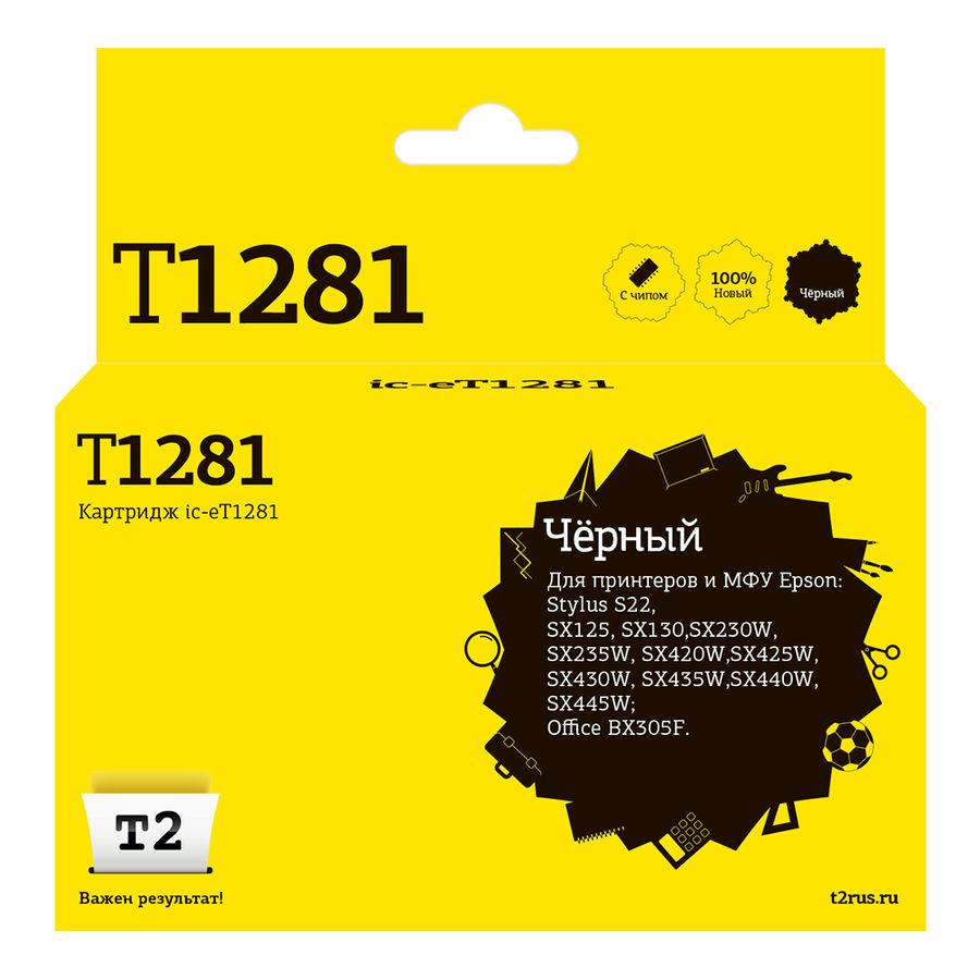 Картридж T2 T12814010 черный [ic-et1281]