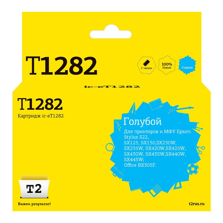 Картридж T2 T12824010 голубой [ic-et1282]