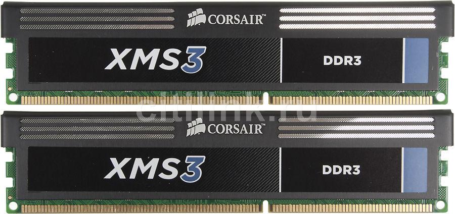 Модуль памяти CORSAIR CMX8GX3M2B1600C9 DDR3 -  2x 4Гб 1600, DIMM,  Ret