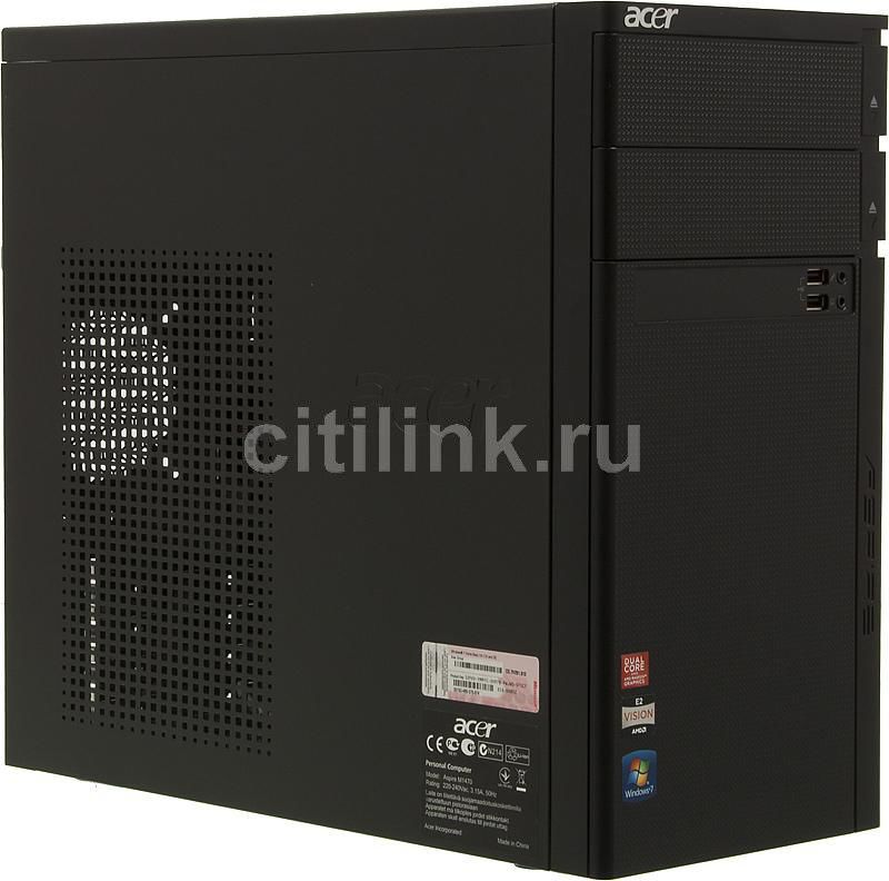 Компьютер  ACER Aspire M1470,  AMD  E2  3200,  DDR3 2Гб, 500Гб,  AMD Radeon HD 6370D,  DVD-RW,  CR,  Windows 7 Home Basic,  черный [pt.shje1.004]