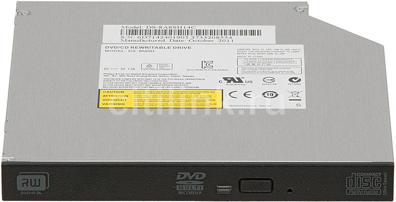 Оптический привод DVD-RW LITE-ON DS-8A8SH-14-C, внутренний, SATA, черный,  OEM