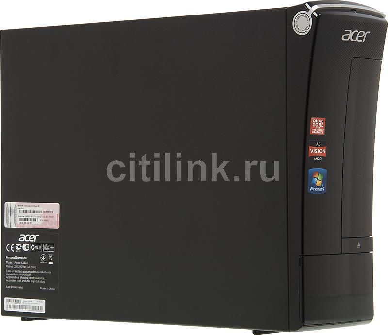 Компьютер  ACER Aspire X3470,  AMD  A4  3420,  DDR3 3Гб, 500Гб,  AMD Radeon HD 6410D,  DVD-RW,  CR,  Windows 7 Home Basic,  черный [pt.shke1.003]